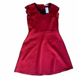 NWT Ricki's red short sleeve fit n flare black